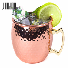 JOUDOO 4pcs Moscow Mule Mug Stainless Steel Coffee Cup Beer Whisky Hammered Copper Bar Drinkware 530ml 18Ounces 35