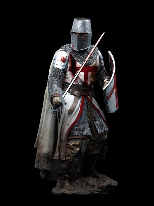 1/18 90MM Templar Knight, XII Century    Resin Model Miniature  Figure Unassembly Unpainted