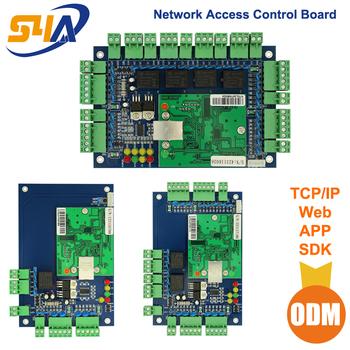 Cztery drzwi dostępu do sieci Panel sterowania z oprogramowaniem protokół komunikacyjny tcp ip pokładzie czytnik Wiegand dla 4 drzwi skorzystaj z tanie i dobre opinie ACB-001 Nie Bezpieczny Brak