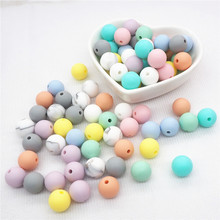 Chenkai 100pcs 9mm 12mm 15mm Silicone Teether Beads DIY Round Baby Pacifier Jewelry Sensory Teething Toy Making beads BPA Free 100pcs silicone beads 9mm round bpa free diy bead for tooth silicone teether necklace jewelry making baby teething toys