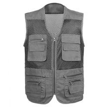 Summer Outdoor Multi-pockets Photography Men Fishing Mesh Vest Male Unloading Waistcoat Hunting Photograph Vest Jackets ,GA137 zuoxiangru hiking tactical vest fishing vest men s m 6xl multi pockets photography jacket camping multi pockets hunting vest