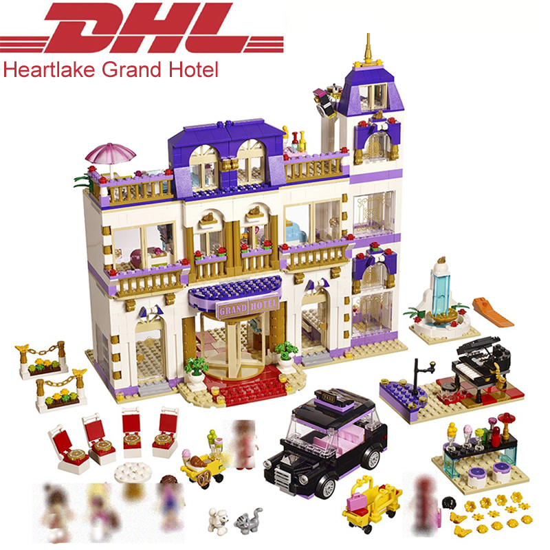 1676Pcs Friend Figures Princess Heartlake Grand Hotel Model Building Kits Blocks Bricks Girl Toys For Children Compatible 41101 lepin 01045 girls series the heartlake grand hotel model set building blocks bricks eucational toys for girls gift 41101