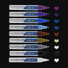 Permanent Paint Marker Pen Medium Point Fine Tip Markers for Glass Painting , Ceramic , Rock sanford 1747388 stainless steel permanent marker fine tip black