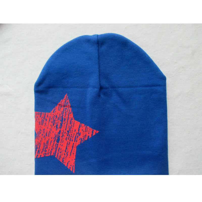 Beautiful Baby Star Printing Beanie Hats Knitted Spring Autumn Cotton Baby Soft Warm Caps Infant Toddler Headwear Accessories