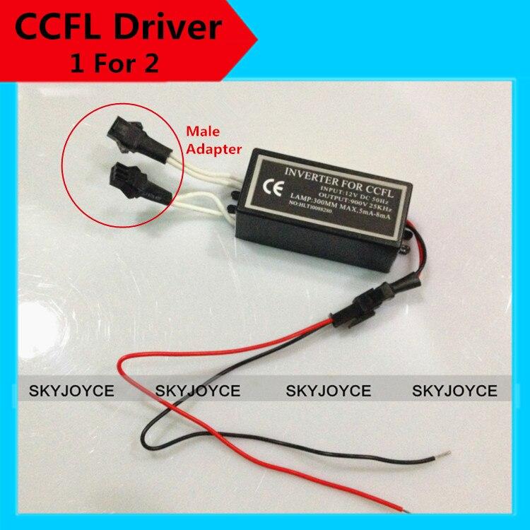 2XCCFL driver replacement male socket 1 for 2 ccfl angel eyes driver inverter for hid bixenon projector Halo Ring Spare driver заточной станок kolner kbg 150 250m