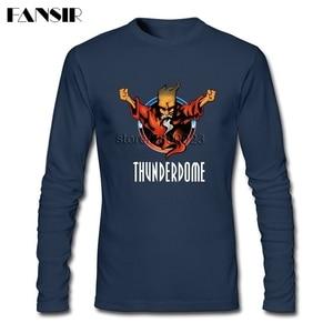 Image 2 - גברים חולצה O צוואר ארוך שרוול כותנה Thunderdome מוסיקה באיכות גבוהה T חולצה לגברים