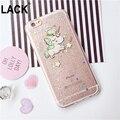 Bling Glitter Cute Cartoon Unicorn Case For iphone 6S Case For iphone 6 6S Plus Phone Cases Funny Unicorn Back Cover Fundas HOT