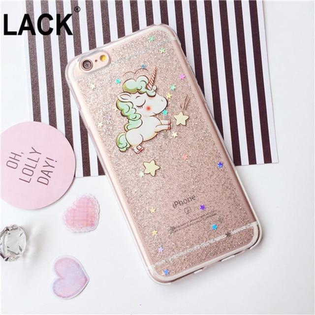 4fa8da930fe Funda unicornio linda de dibujos animados con brillo brillante para iphone 6  s funda para iphone