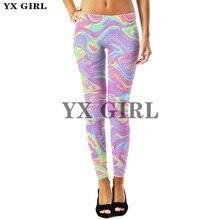 YX Girl Women Fashion Sex Legging Green Leaf Weed 3d Printing leggins Slim Leggings Woman Spring Autumn Pants Trousers