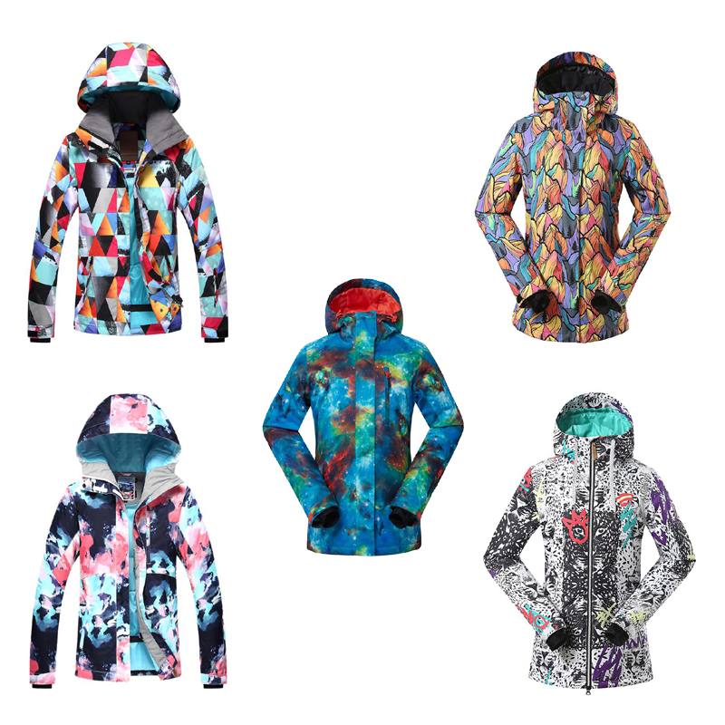 Sports & Entertainment Gs Colorful Shining Women Snow Suit Girl Ski Jackets Snowboarding Clothing 10k Waterproof Windproof Breathable Winter Costume Skiing Jackets