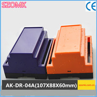 Free Shipping Plastic Housing For PCB Din Rail Enclosure 1 Pcs 107 88 60mm Diy Outlet