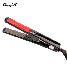 On sale 100-240V Ceramic LCD Digital Hair Straightening Plate Electric Fast Hair Straightener Flat Iron Salon Hairdressing Styling Tool