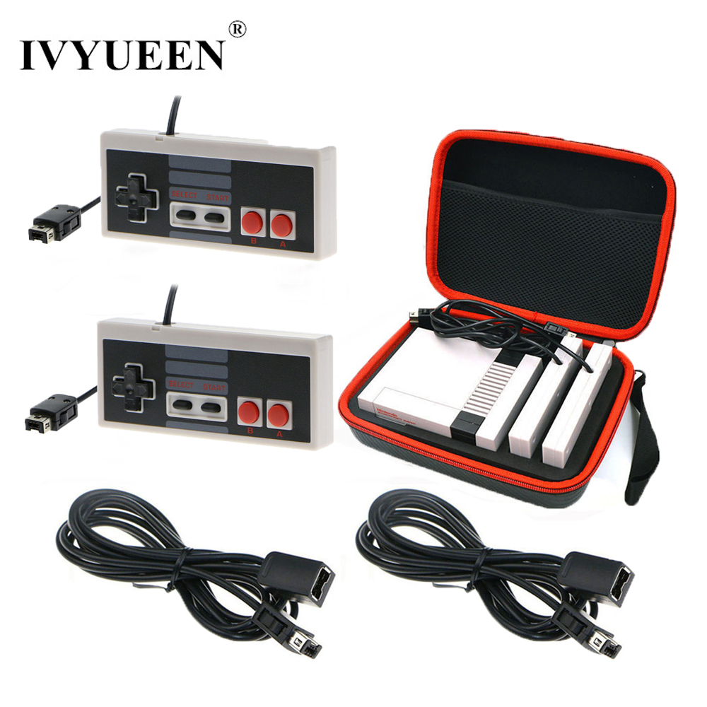 IVYUEEN Travel Storage Bag Case for NES Mini Classic Edition Console + Gamepad + 1.8 m Controller Extensive Cable Cord все цены