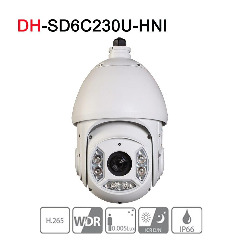 DH SD6C230U-HNI 2MP 30x Starlight IR PTZ Network Camera Powerful 30x optical zoom Auto-tracking and IVS IP66 upgrade verison security ip camera 2mp 30x starlight ir ptz network camera h 265 wdr ip66 sd6c230u hni