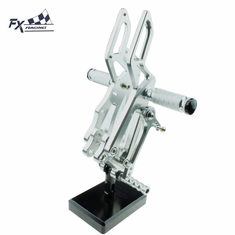CNC Motorcycle Foot Pegs Rest Footpegs Pedals Rearset Footrest Rear For Aprilia RS4125 4T RS4 125 2011 2012 2013 2014 2015 2016CNC Motorcycle Foot Pegs Rest Footpegs Pedals Rearset Footrest Rear For Aprilia RS4125 4T RS4 125 2011 2012 2013 2014 2015 2016