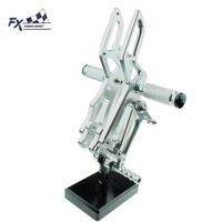 CNC Motorcycle Foot Pegs Rest Footpegs Pedals Rearset Footrest Rear For Aprilia RS4125 4T RS4 125 2011 2012 2013 2014 2015 2016