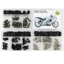 For BMW K1200GT 2003 2004 2005 Complete Cowling Full Fairing Bolts Kit Screws Fairing Screws Washer Fastener Steel Nuts motorcycle 154 pcs stainless steel full fastener bolts screws assortment kit for kawasaki kx kxf 125 250 450 2003 2004 2005 2018