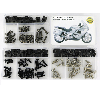 цена на For BMW K1200GT 2003 2004 2005 Complete Cowling Full Fairing Bolts Kit Screws Fairing Screws Washer Fastener Steel Nuts