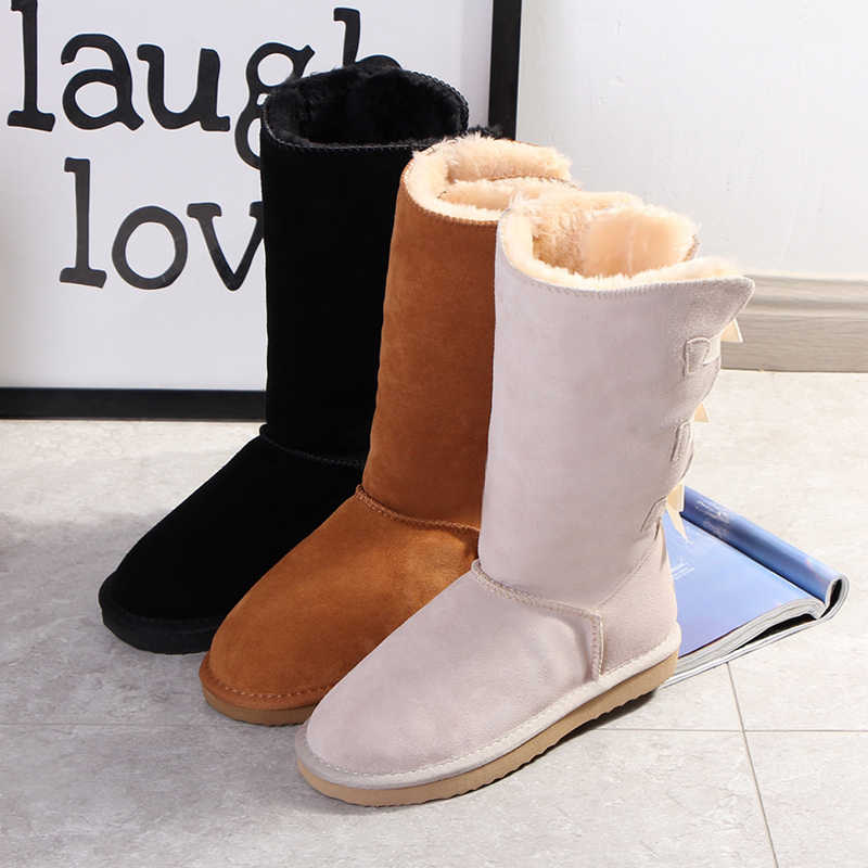 Begocool snow boots for women australia warm winter boots woman shoes 100% genuine cow suede leather BE8003