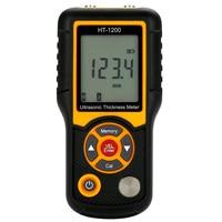 FUNN Hti HT 1200 цифровой ЖК дисплей ультразвуковой Толщина метр тестер измерительный инструмент Range1.2 ~ 225 мм