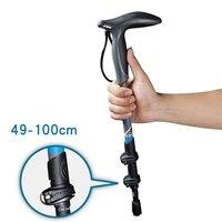 T Handle Carbon Fiber Walking Sticks For Tourism Cane Telescopic Trekking Nordic Walking Pole Hiking Crutches Bar Ultralight