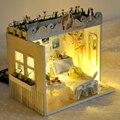 Ручной работы Кукольный Дом Мебель Миниатюрный Кукольный Домик Миниатюре Diy Кукольные Домики Деревянные Игрушки Для Детей Взрослые Подарок На День Рождения TD3