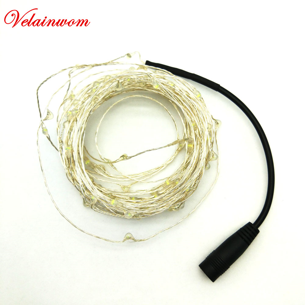 Waterproof Holiday Lighting DC12V 5m/10m Copper Wire LED String Light Warmwhite For GardenWedding/Party/Christmas Decoration