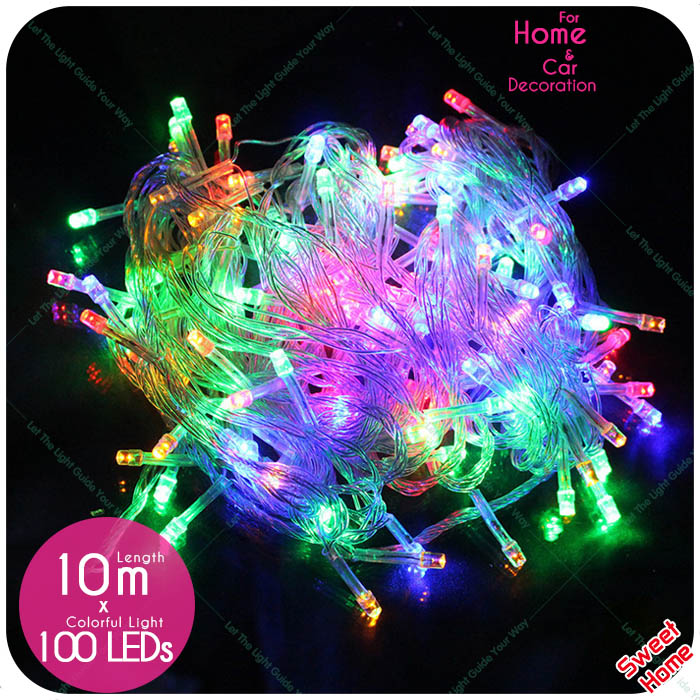 10m/100leds Led String Lights DIY For Holiday Wedding Christmas Decoration Party Garland lighting Led Lights Outdoor