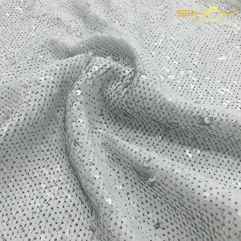 Rouge et Argent Réversible Toile De Fond De Paillettes Rideau, 3FTX7FT Foncé Rouge Sirène Poissons Échelle Sequin Tissu/Photographie-un