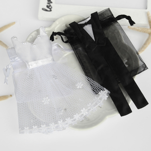 Image 5 - 50 Pieces Organza Drawstring Candy Bag 25* Tuxedo &  25* Dress Bride Groom Wedding Favors Party Gift Bag WB06