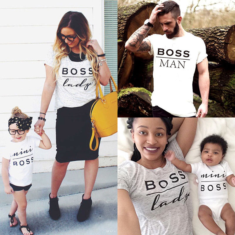 41507668c0 Summer Family Matching Outfits Mommy Daddy Kid Son Baby T-Shirt Shirts  Family Clothes Child