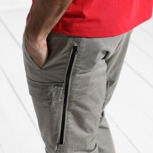 Image 4 - SIMWOOD 2020 mode Cargo pantalon hommes fermeture éclair poche cheville longueur Streetwear pantalon tactique Hip Hop marque vêtements 180425