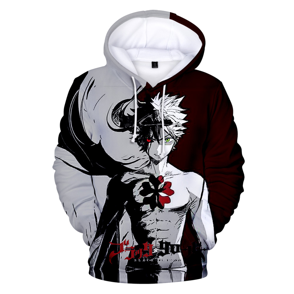 US $12.7 42% OFF New 3D Anime Black Clover Hoodies Men Women Leisure Fashion Casual Sweatshirt 3D Print Black Clover 3D streetwear Outwear in Hoodies