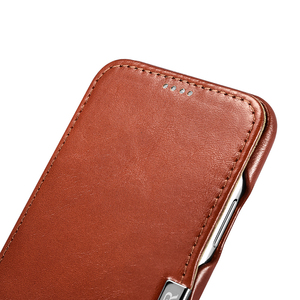 Image 4 - Icarer Genuine Leather Case for iPhone 12 Mini 11 Pro Max 6 7 8 Plus X XR XS Magnetic Closure Luxury Retro Slim Flip Phone Cover