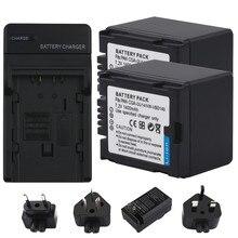цена на RuigPro 1400mAh 2pcs CGA-DU14 VW-VBD140 DZ-BP14 CGA DU14 Battery +Car Charger for PANASONIC DU06 DU07 NV-GS10 CGADU14 Battery