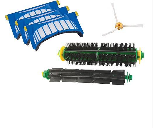 Aerovac Filter+3 Arms Side Brush+Bristle and Flexible Beater Brush for iRobot Roomba 500 series Vacuum Cleaner bristle brush flexible beater brush fit for irobot roomba 500 600 700 series 550 650 660 760 770 780 790 vacuum cleaner parts