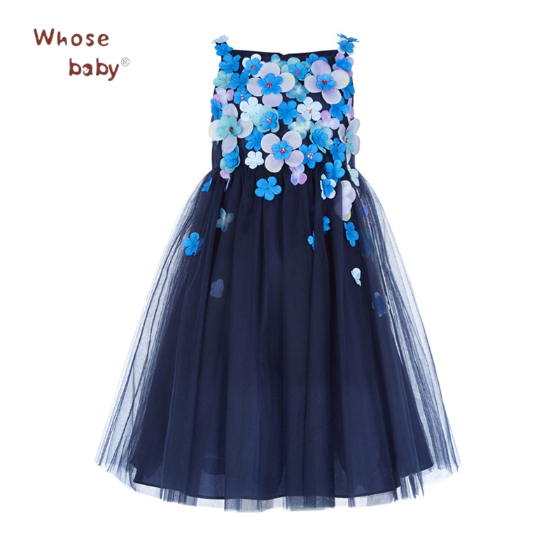New Party Girls Dress Flower Princess Toddler Ball Gown New Design Performance Children Costume Wedding Kids Dresses For Girls