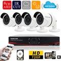Sunchan 1080 P HDMI de salida 8CH 720 P HD 1200TVL AHD DVR KIT CCTV sistema 720 P 1MP cámara exterior impermeable de seguridad del sistema 1 TB HDD sistema de camaras de seguridad kit camaras seguridad home