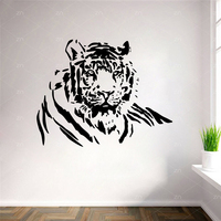 Large Tiger Wall Stickers Removable Waterproof Animal Wall Art Deals Living Room Bedroom Decoration Mural Home