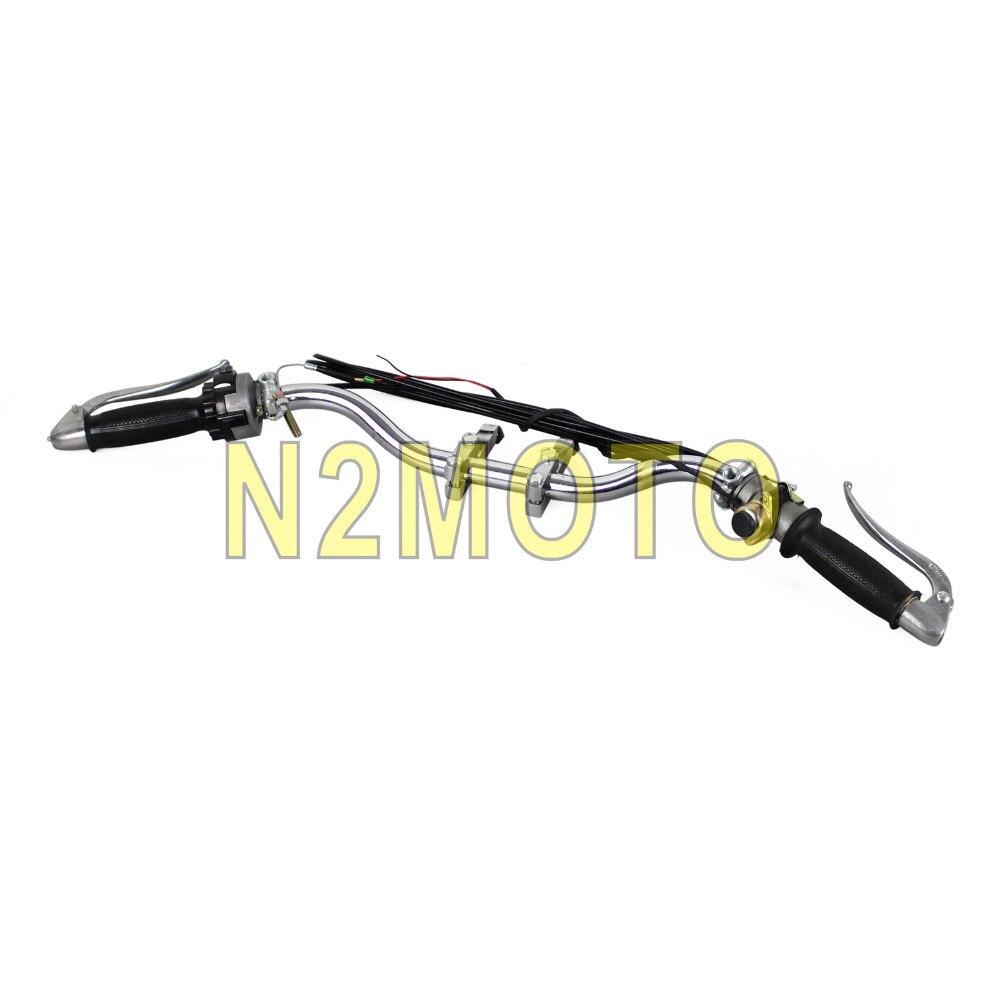 Guidon de moto assemblage rétro poignée barre levier câble poignée barre support de montage pour BMW R12 R75 R66 R71 K750 KS750 Ural