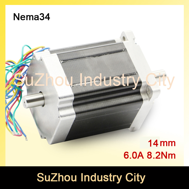 NEMA34  CNC stepper motor 86X114mm double shaft for sale8.2N.m 6A  cnc stepping motor 1172Oz-in for engraving machine 3D printer шорты philipp plein цвет синий