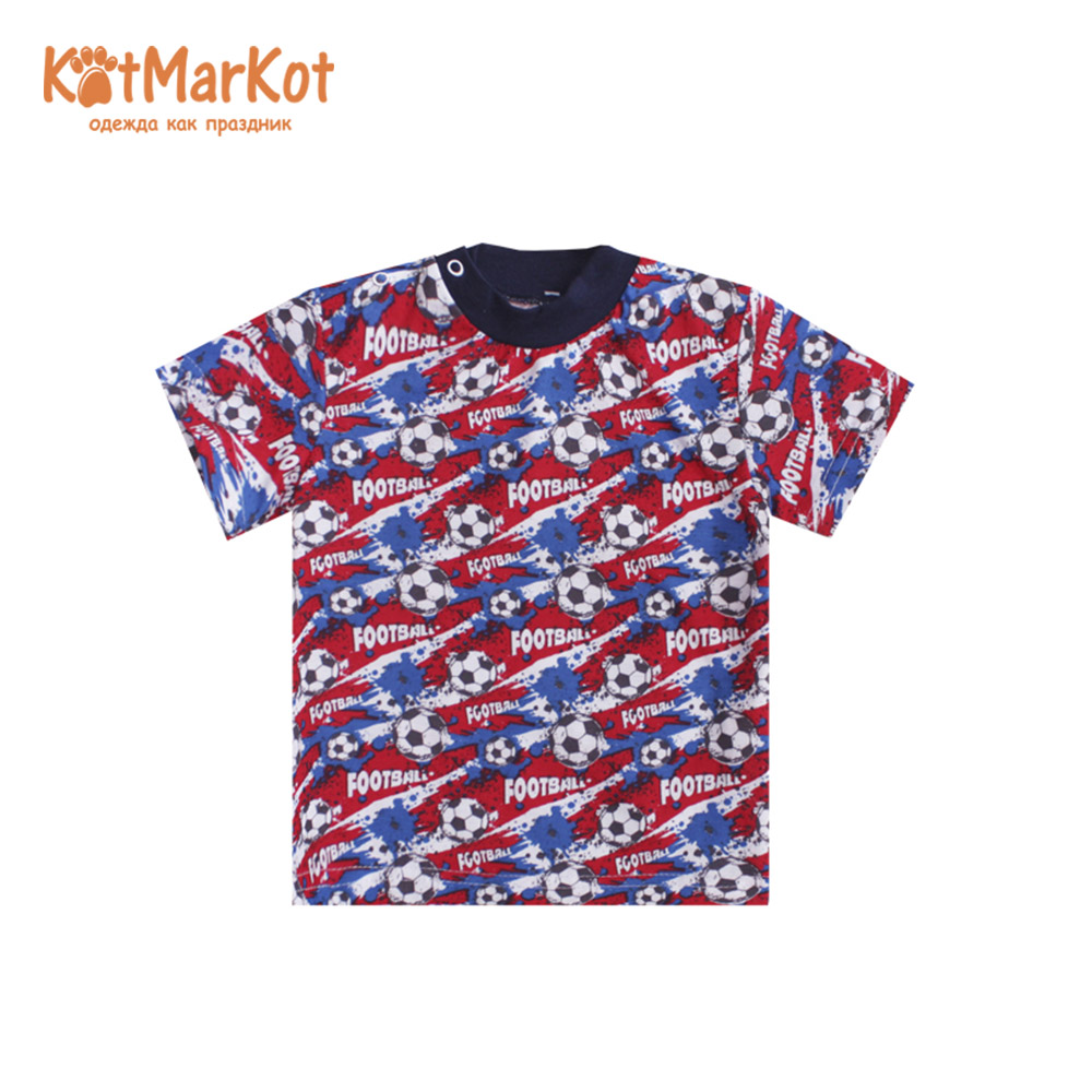 Фото - T-Shirts Kotmarkot 7759  for children t-short Jersey tee shirt baby clothes Cotton cat sotmarket Baby Boys Casual Print men halloween print tee