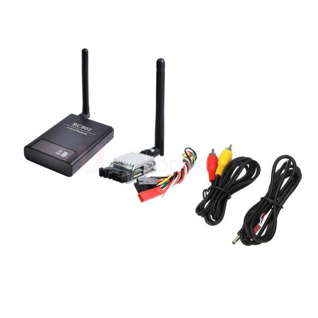 Boscam 2.4G 8CH 500mW Wireless AV FPV RC Transmitter Receiver TS321+RC802
