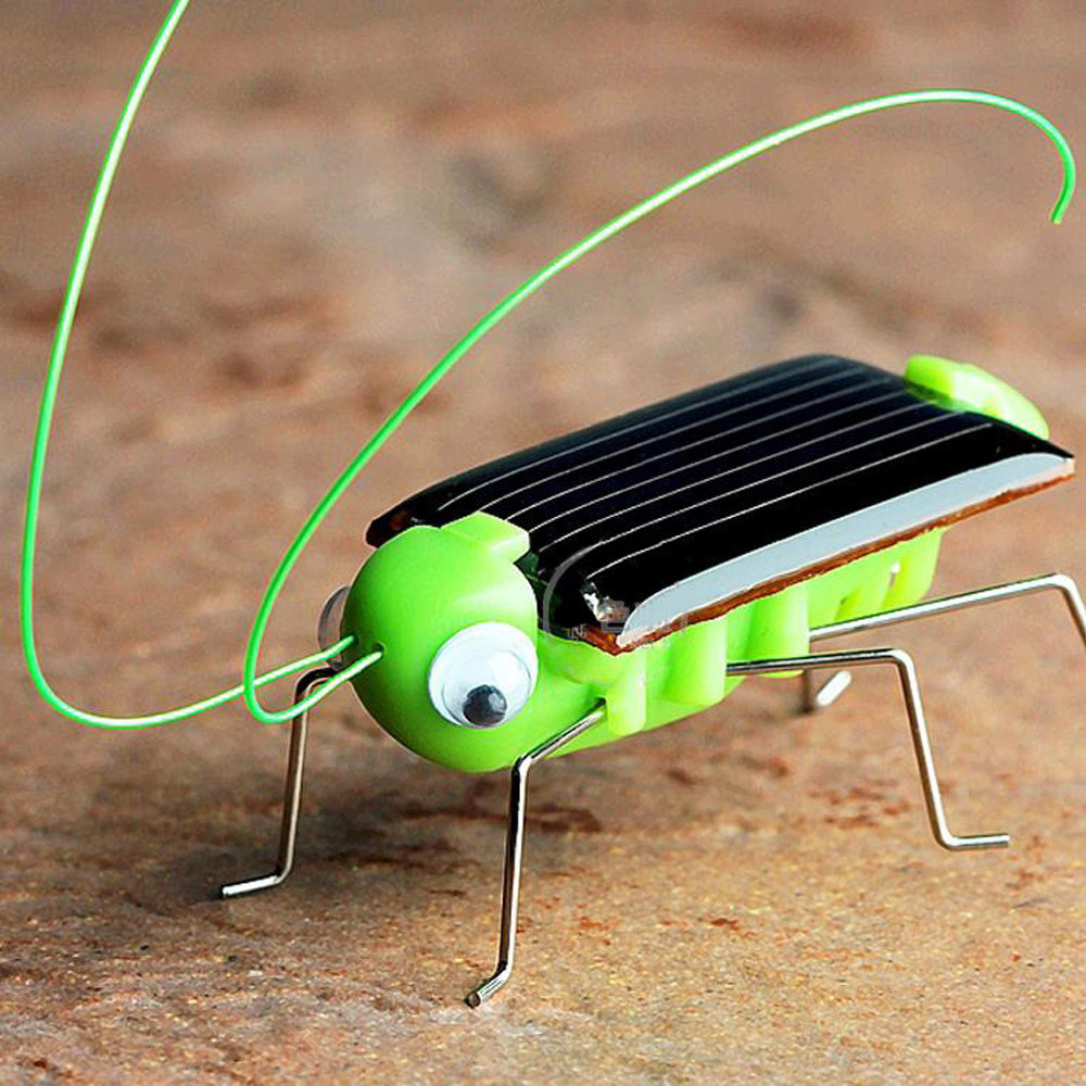 2018 Solar grasshopper Educational Solar Powered Grasshopper Robot Toy required Gadget Gift solar toys No batteries for kids solar powered magic autonomous mini car toy