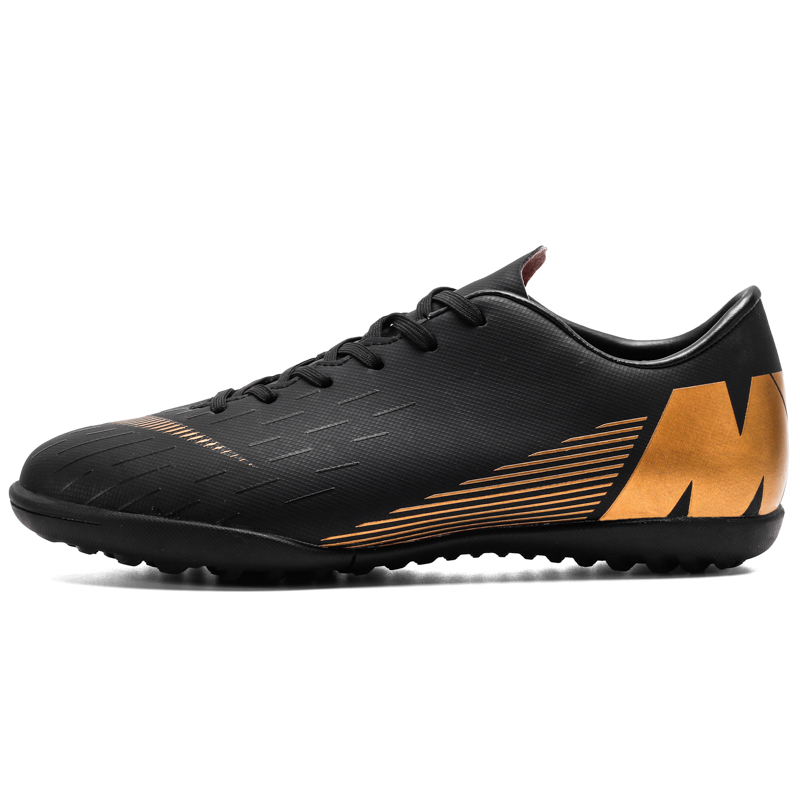 Men Football Boots Soccer Cleats Boots Long Spikes TF Spikes Ankle High Top Sneakers Soft Indoor Turf Futsal Soccer Shoes Men