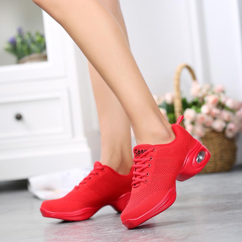 Women's Dance Shoes Woman Jazz Dancing Shoes High quality Fly Weaving Mesh Dance Sneakers Lady Modern Shoes Female Sports Shoes