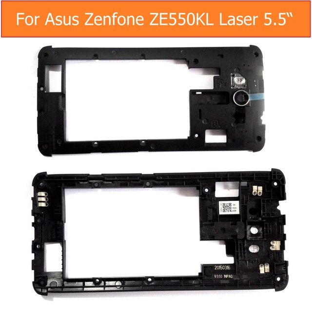 "Retail 100% Geniune rear Middle housing for  Asus zenfone 2 Laser 5.5"" ZE550kL ZE551kL Z00LD  battery frame + rear camera lens"
