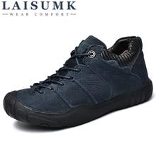 LAISUMK Men Boots Waterproof Footwear 2019 Winter Snow Fur Breathable Fashion Shoes zapatos hombre