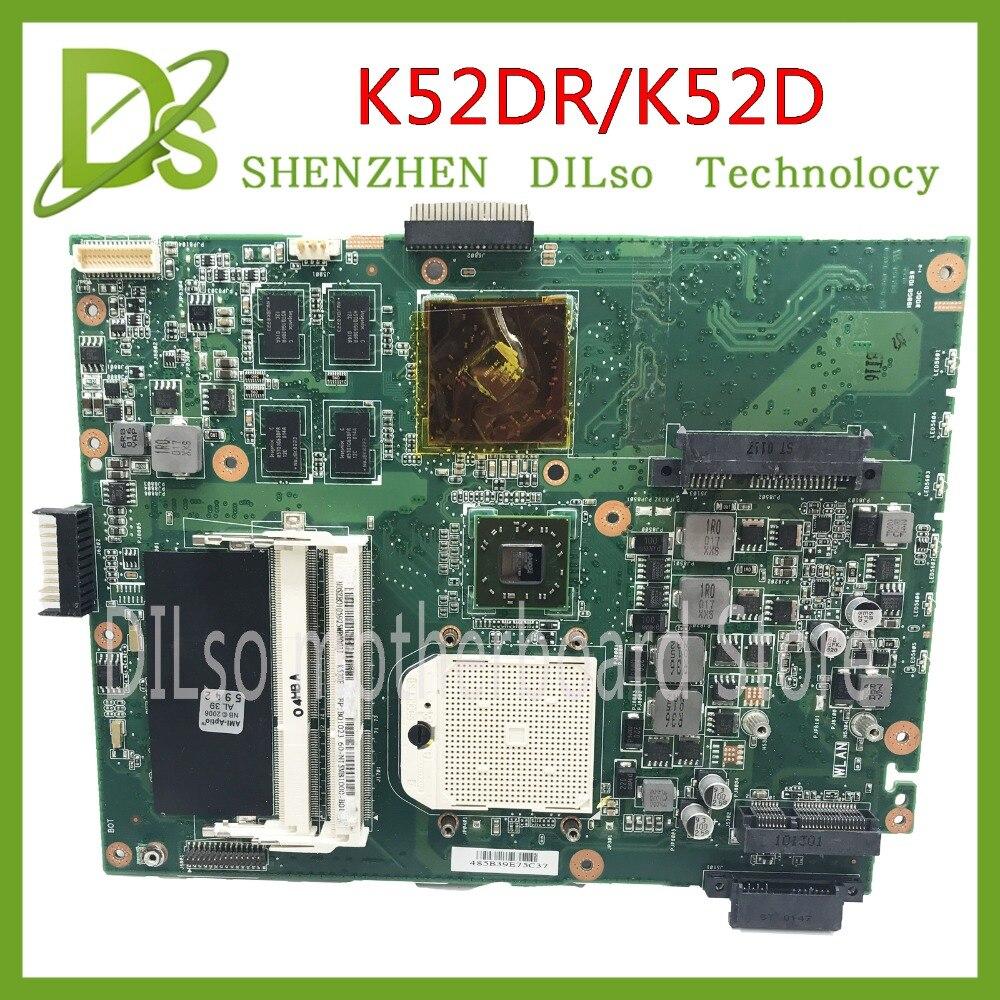 KEFU K52DR for ASUS K52DR A52DE K52DE A52DR K52D motherboard For ASUS K52DR K52DE mainboard Test g73sw for asus motherboard rev2 0 hm65 4ram slots 3d connector 90r n3imb1000y mainboard full test