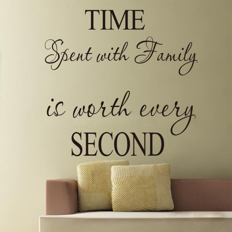new time spent with family is worth every second art wall decor quote stickers wall decals in wall stickers from home garden on aliexpresscom alibaba